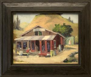 """Jon Blanchette, """"Second Hand Store - Soquel (California)"""", oil, c. 1955, painting, for sale purchase consign auction denver Colorado art gallery museum"""