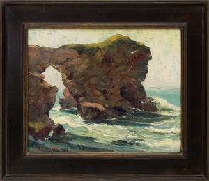 """Jon Blanchette, """"Monterey (California)"""", oil, circa 1955, painting, for sale purchase consign auction denver Colorado art gallery museum"""