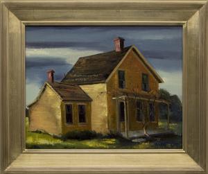 "Jon Blanchette, ""East Santa Cruz (California)"", oil, circa  1955 painting fine art for sale purchase buy sell auction consign denver colorado art gallery museum"