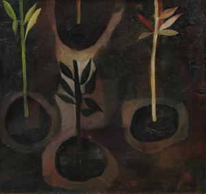 "Polia Sunockin Pillin, ""Earth"", oil, 1957"