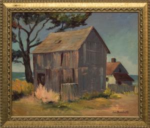 "Jon Blanchette, ""Mendocino (Southern California)"", oil for sale purchase consign auction denver Colorado art gallery museum"
