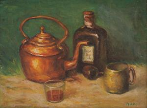 "Joseph Amadeus Fleck, ""Untitled (Still Life)"", oil"