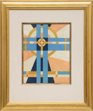 "Emil James Bisttram, ""Untitled (Abstract)"", pastel, 1939 for sale purchase consign auction denver Colorado art gallery museum"