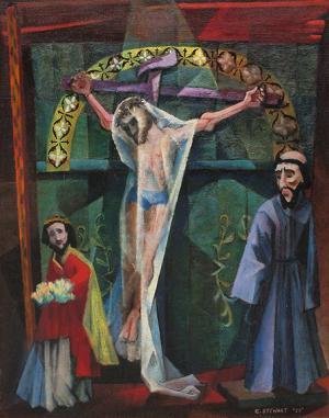 "Charles C. Stewart, ""Trampas Altar"", oil, 1950"