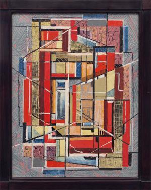 """Charles Ragland Bunnell, """"Untitled (Abstract)"""", oil, 1952 painting for sale purchase auction consign denver colorado art gallery museum"""