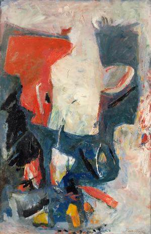 "Paul (Harry) Burlin, ""White Phantom"", oil on canvas, 1961"