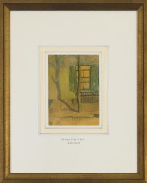 """George Elbert Burr, """"Untitled (Exterior with Tree)"""", pastel, c. 1915 for sale purchase consign auction denver Colorado art gallery museum"""