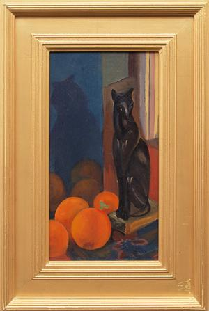 """Margaret Tee, """"Still life with objects"""", oil, c. 1930 for sale purchase consign auction denver Colorado art gallery museum"""