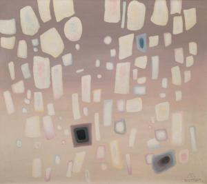 "Emil James Bisttram, ""Precipitation"", oil, 1961"