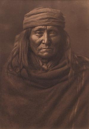 "Edward Sheriff Curtis, ""Eskadi Apache"", platinum print photograph, 1903 north american indian vintage original for sale purchase consign denver art gallery museum"