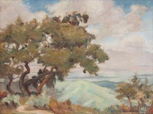 "Louise Everett Nimmo, ""Untitled (California Landscape)"", oil on canvas, c. 1920"