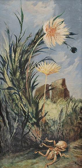 "Jenne Magafan, ""Yellow Flowers"", tempera, 1946"