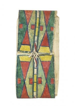 Parfleche Envelope, Nez Perce, last quarter of the 19th century 19th century Native American Indian antique vintage art for sale purchase auction consign denver colorado art gallery museum