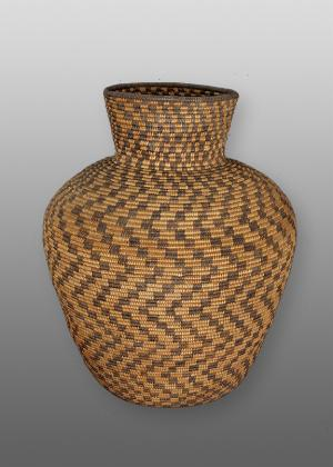 Olla, Apache, last quarter of the 19th century, native american indian basket jar