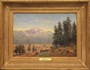 "Jerry Malzahn, ""Longs Peak (Colorado)"", oil, 2010 for sale purchase consign auction denver Colorado art gallery museum"
