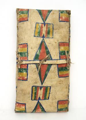 Parfleche Envelope, Plateau, circa  1890 19th century Native American Indian antique vintage art for sale purchase auction consign denver colorado art gallery museum