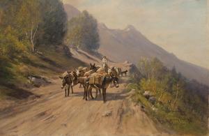 "Harvey Otis Young, ""Untitled"", mixed media, 19th century"