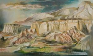 """Eric James Bransby, """"Ghost Ranch"""", pastel, 1999 painting for sale purchase"""