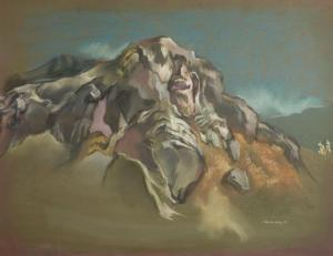 "Eric James Bransby, ""The Cliff (Colorado)"", pastel, 1997 painting for sale purchase"