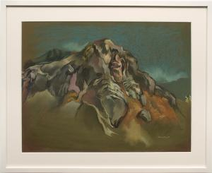 "Eric Bransby, ""The Cliff (Colorado)"", pastel, 1997 for sale purchase consign auction denver Colorado art gallery museum"