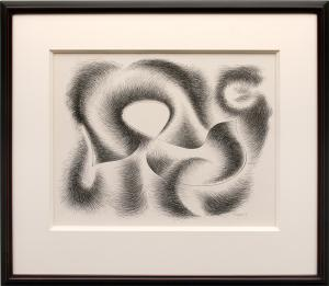 """Herbert Bayer, """"Convolution"""", lithograph, 1948 for sale purchase"""