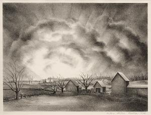 "Victoria Huntley, ""Dawn Came; edition of 250"", lithograph, 1946"