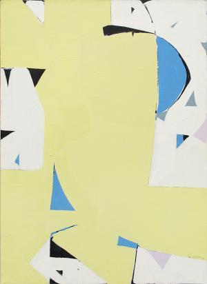 "Beatrice Mandelman, ""Yellow Sun"", acrylic, circa 1975"