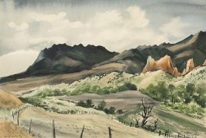 "Adolf Arthur Dehn, ""The Garden of the Gods (Colorado)"", watercolor, 1939"