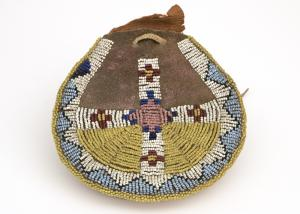 Beaded arapahoe indian leather pouch Native American Indian antique vintage art for sale purchase auction consign denver colorado art gallery museum