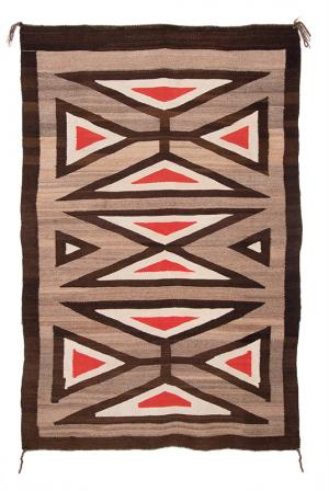 Trading Post Rug, Navajo, first quarter of the 20th century maltese cross Trading Post Rug, Navajo, first quarter of the 20th century