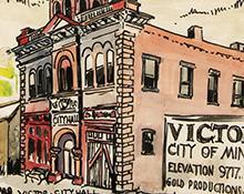 """Muriel Sibell Wolle, """"Victor, Colorado"""", watercolor, 1941"""