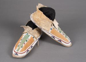 Moccasins, Cheyenne, circa 1890  for sale purchase consign auction art gallery museum denver