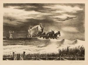 "Geroges L. Schreiber, ""In Tennessee"", lithograph"