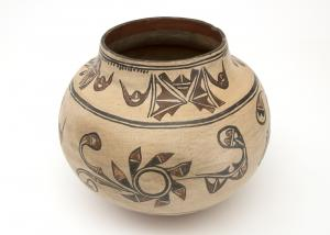 Pottery Olla jar, San Ildefonso, last quarter of the 19th century, Native American Indian antique vintage art for sale purchase auction consign denver colorado art gallery museum