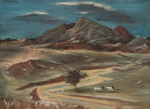 """Arnold A. Blanch, """"Dead River"""", oil painting, circa 1940"""