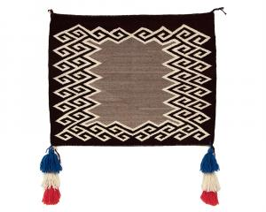 Saddle Blanket, Navajo, 1930 Native American Indian antique vintage art for sale purchase auction consign denver colorado art gallery museum
