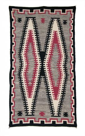 Trading Post Rug, Navajo, circa 1930 Native American Indian antique vintage art for sale purchase auction consign denver colorado art gallery museum