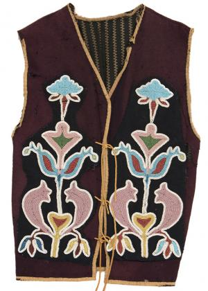Osage Plains Indian beaded vest clothing 19th century Native American Indian antique vintage art for sale purchase auction consign denver colorado art gallery museum