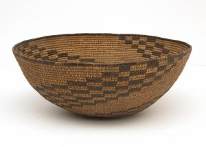 BASKETRY Bowl, Apache, circa 189019th century Native American Indian antique vintage art for sale purchase auction consign denver colorado art gallery museum