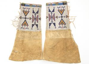 Sioux Plains Indian beaded leggings clothing 19th century Native American Indian antique vintage art for sale purchase auction consign denver colorado art gallery museum