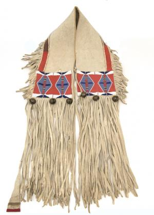 Saddle Bags, Crow, circa  1875 beaded, 19th century Native American Indian antique vintage art for sale purchase auction consign denver colorado art gallery museum