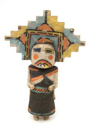 Antique vintage Kachina doll katsina, Hopi, circa 1910-1930s Salako mana gallery museum auction denver colorado indian art