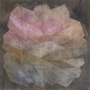 "Margo Hoff, ""Crystal, Series #3 Rose"", mixed media, circa 1960 painting fine art for sale purchase buy sell auction consign denver colorado art gallery museum"