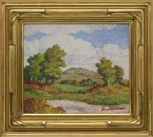 "Birger Sandzen, ""Coronado Heights (Kansas)"", oil painting for sale denver colorado art gallery museum auction consign sell buy"