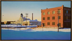"James Wolford, ""December Morning (Old  Tivoli Brewery, Denver, Colorado)"", oilpainting for sale denver colorado art gallery museum auction consign sell buy"
