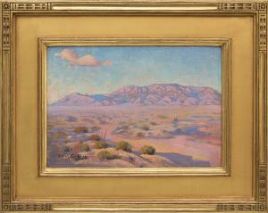 Carl Redin Landscape Painting Sandias New Mexico painting fine art for sale purchase buy sell auction consign denver colorado art gallery museum