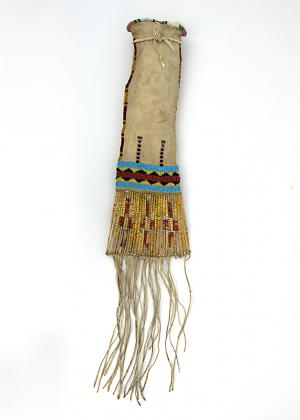 Tobacco Bag, Arapaho, circa 1860 classic period Plains Indian 19th century Native American Indian antique vintage art for sale purchase auction consign denver colorado art gallery museum