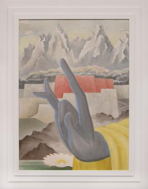 """Arnold Ronnebeck, """"White Lotus of Lhasa"""", oil, circa 1941 painting fine art for sale purchase buy sell auction consign denver colorado art gallery museum"""