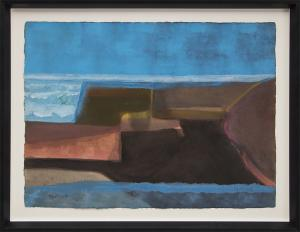 """Lynn R. Wolfe, """"Untitled"""", watercolor for sale purchase consign auction denver Colorado art gallery museum"""
