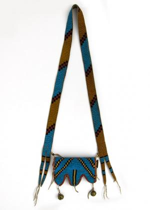 Telescope Case, Blackfeet Plains Indian 19th century Native American Indian antique vintage art for sale purchase auction consign denver colorado art gallery museum